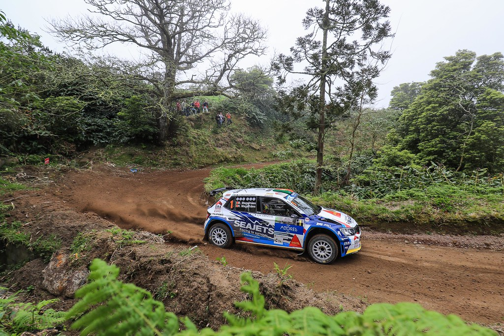 01 MAGALHAES Bruno (prt), MAGALHAES Hugo (prt), SKODA FABIA R5, action during the 2018 European Rally Championship ERC Azores rally,  from March 22 to 24, at Ponta Delgada Portugal - Photo Jorge Cunha / DPPI