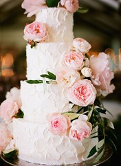 Wedding Cakes : Photo: Diana McGregor Photography via Style Me Pretty; This pink floral wedding ...