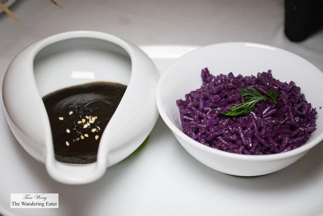 Mole negro and corn flavored rice
