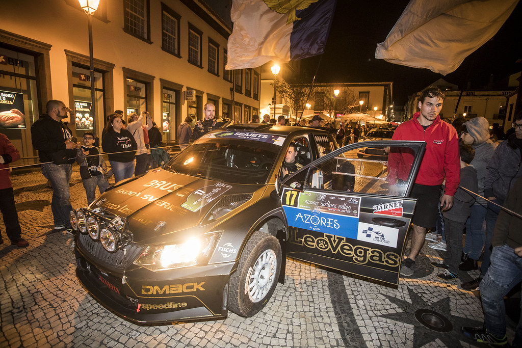 17 AHLIN Fredrik (swe), SJOBERG Joakim (swe), SKODA FABIA R5, portrait during the 2018 European Rally Championship ERC Azores rally,  from March 22 to 24, at Ponta Delgada Portugal - Photo Gregory Lenormand / DPPI