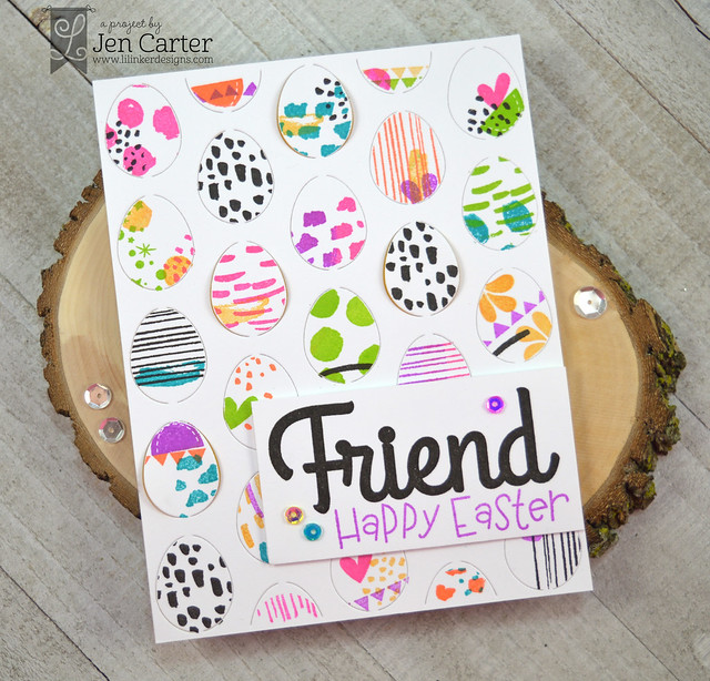Jen Carter Easter Egg Pop Up Happy Bunny Friend wm