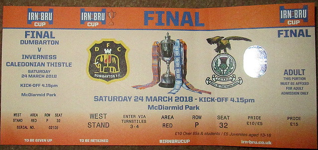 Irn Bru Cup Final Ticket
