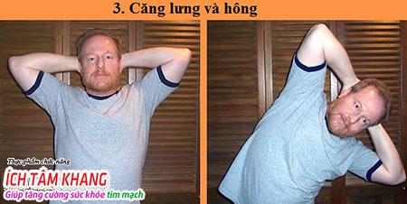 Động tác tập thể dục thứ 3 cho người bệnh suy tim