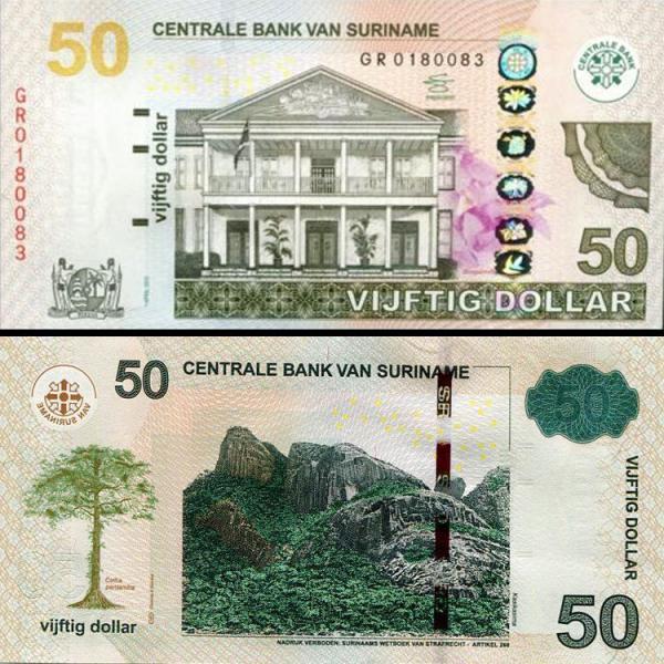 50 Dolárov Surinam 2012, P165b