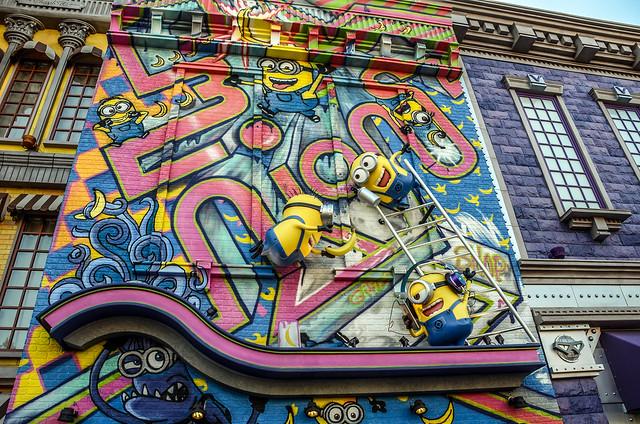 Minion grafiti wall