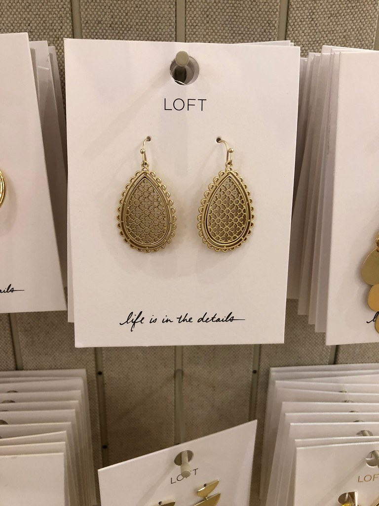 LOFT Filigree Drop Earrings