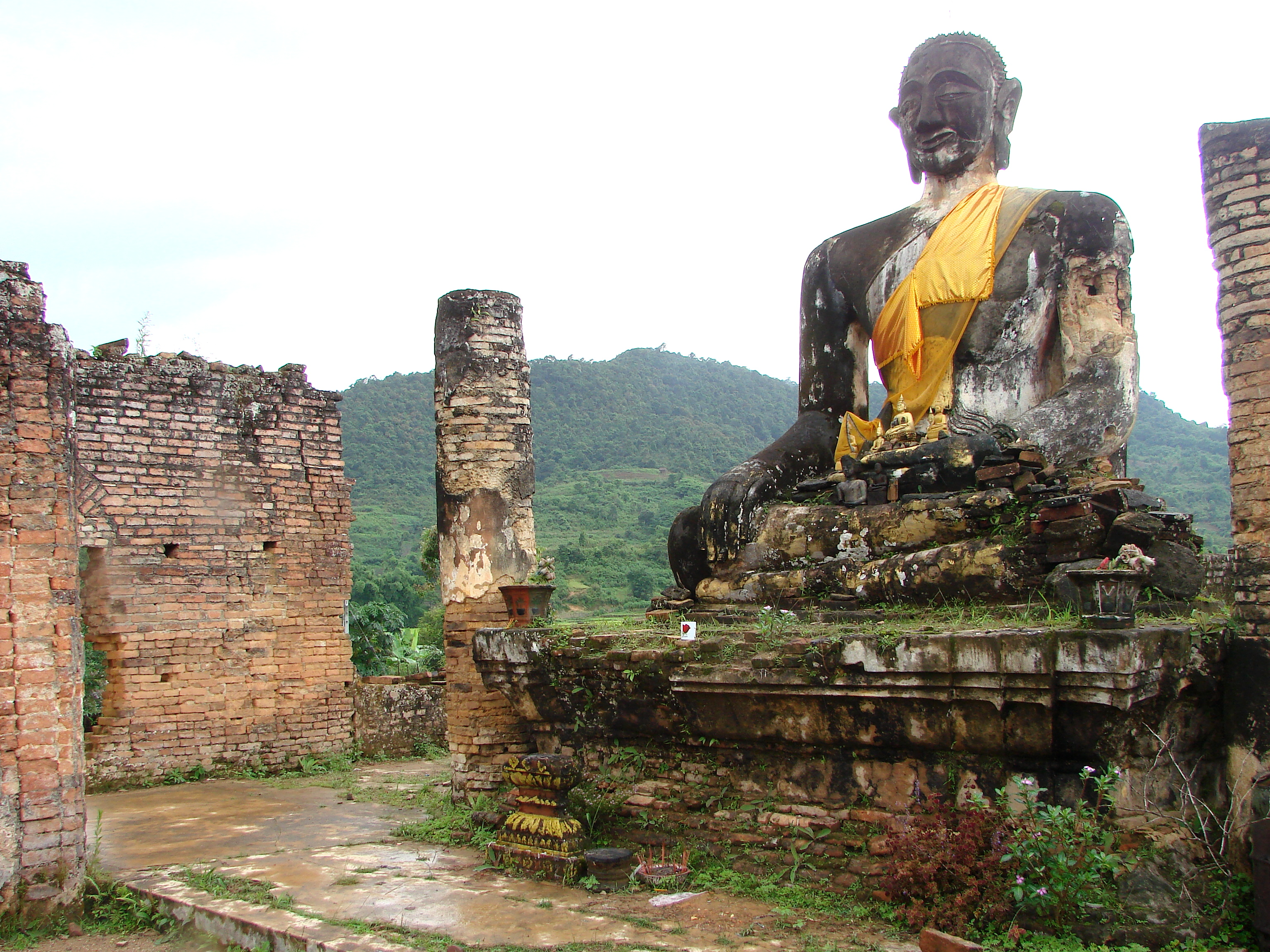 Ruins of Muang Khoun, former capital of Xieng Khuang province, destroyed by US bombs in the late 1960s. Photo taken by Adam Jones on July 14, 2009.