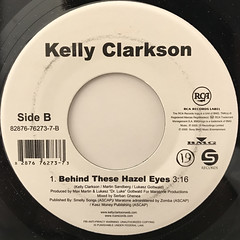 KELLY CLARKSON:BECAUSE OF YOU(LABEL SIDE-B)