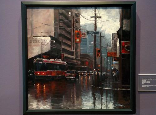 November Rain, Bay and Dundas Streets, 2011 #toronto #tdgallery #catherinejeffrey #baystreet #dundasstreetwest #painting #torontorevealed #torontoreferencelibrary #latergram