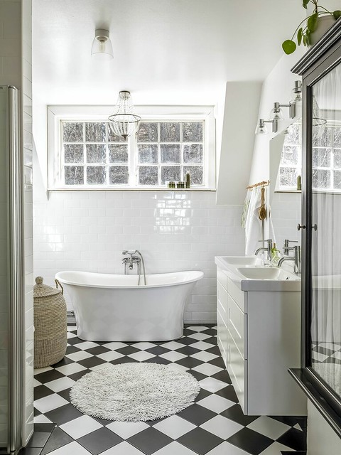 14 bathroom con bañera exenta