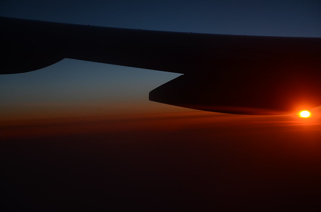 Sunrise from Plane Pt1