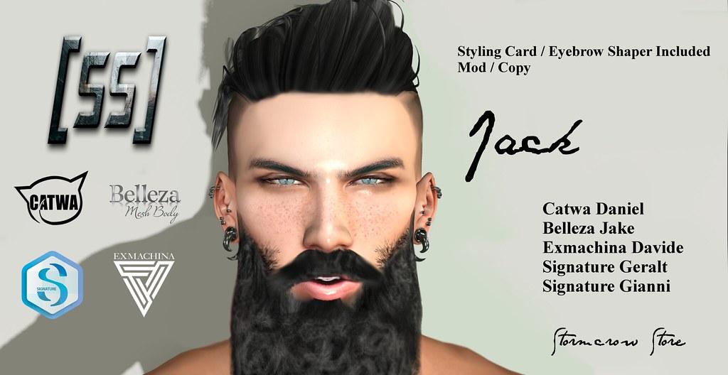 [Stormcrow Store] Jack Bento Male Shape  Catwa Daniel / Exmachina Davide / Signature Gianni / Signature Geralt / Belleza Jake