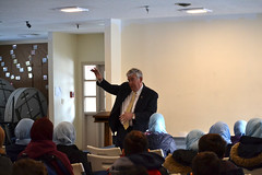 Rep. Storms speaks with high school students at Madina Academy