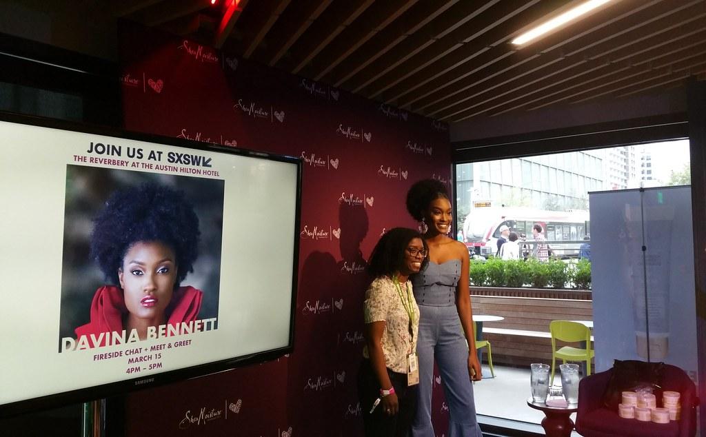 Ebena meets Davina Bennett at SXSW