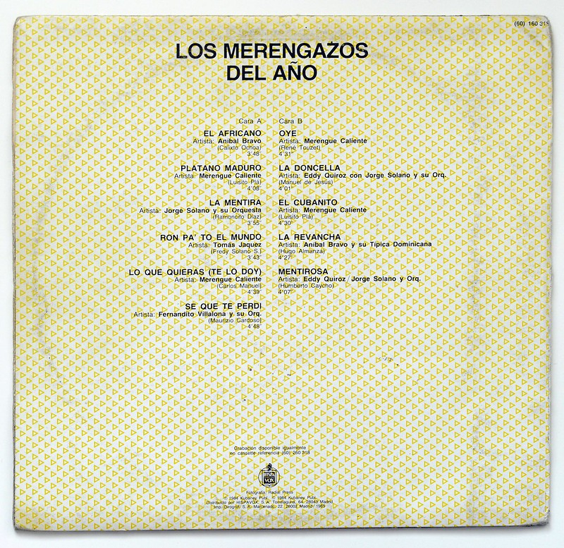 A0145 Various Artists Los Merengazos del Ano