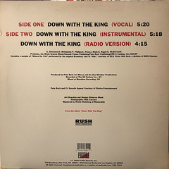 RUN DMC:DOWN WITH THE KING(JACKET B)