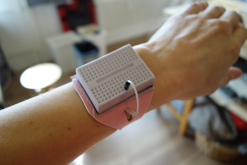 Body to breadboard bracelet