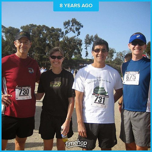 Once upon a time... Chollas Lake 5k with some of the BAE Systems running crew.