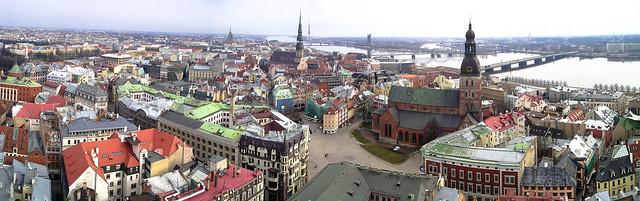 Riga panorama, Latvia, 2005