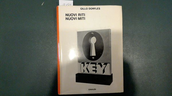 Gillo Dorfles, Nuovi riti, nuovi miti, ed. Einaudi