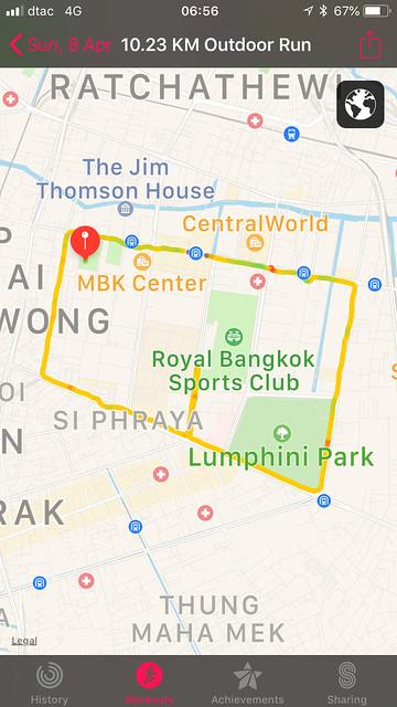 10K Thailand Championship 2018 route