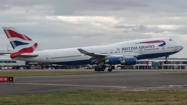 G-CIVY - British Airways 747 @ Cardiff Airport 150318