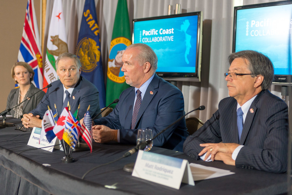 The Premier of British Columbia, the governors of Oregon and Washington, and the California secretary for environmental protection, on behalf of the governor of California, met today to mark the 10th anniversary of the Pacific Coast Collaborative (PCC), and identify opportunities to further strengthen collaboration.