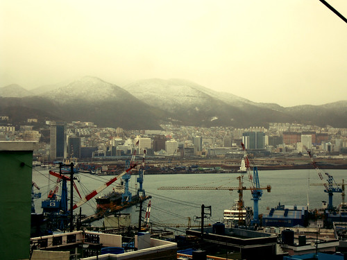 Snow in Busan March 21th