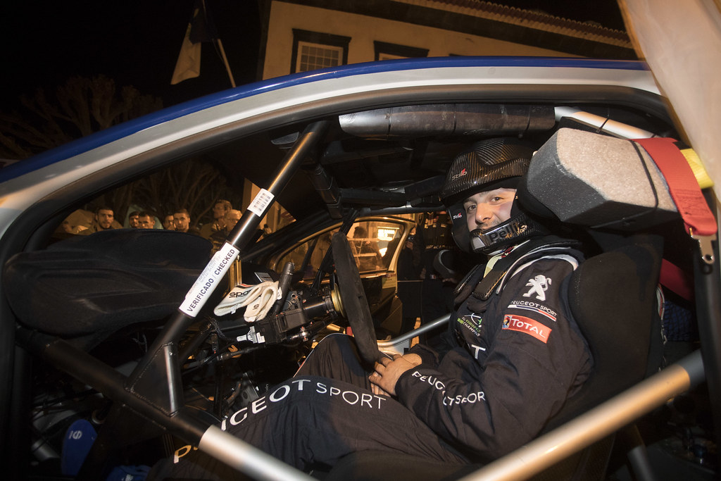 10 PELLIER Laurent (fra), PEUGEOT RALLY ACADEMY, PEUGEOT 208 T16, portrait during the 2018 European Rally Championship ERC Azores rally,  from March 22 to 24, at Ponta Delgada Portugal - Photo Gregory Lenormand / DPPI