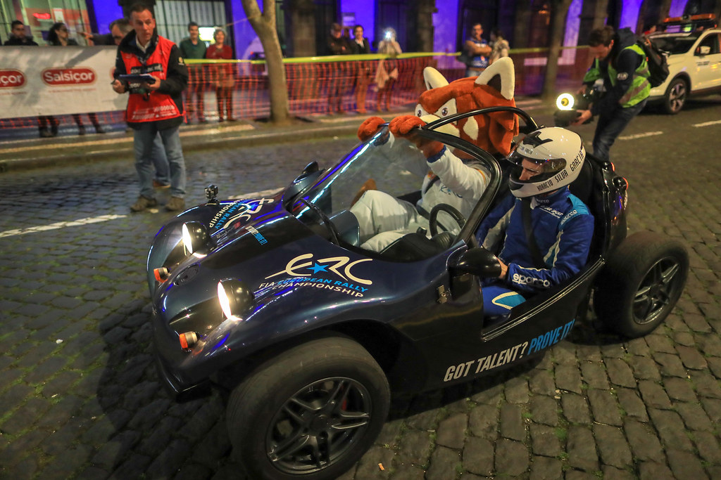 Percy mascot action during the 2018 European Rally Championship ERC Azores rally,  from March 22 to 24, at Ponta Delgada Portugal - Photo Jorge Cunha / DPPI