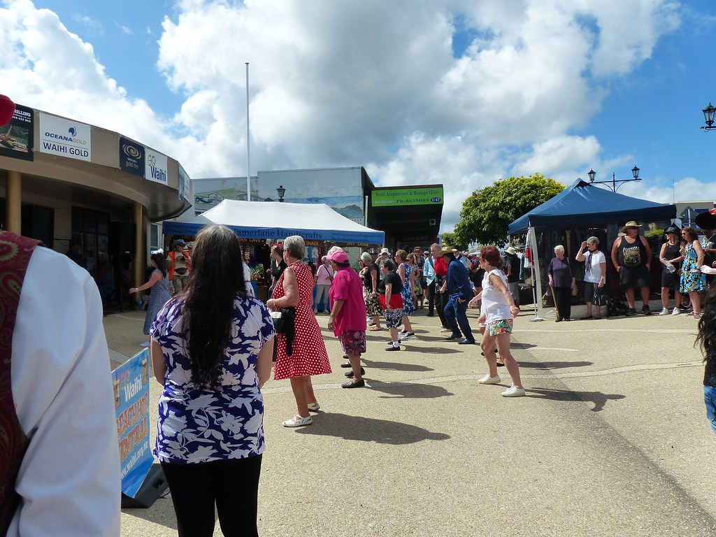 Dancing at Waihi's Beach Hop