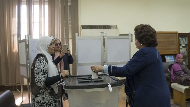 Snapping a photo for mom in Egypt's Presidential elections 2018