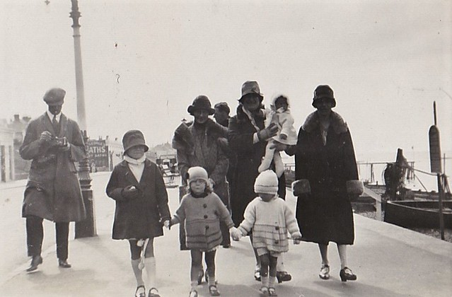 Walking the Prom at Herne Bay Kent 1930