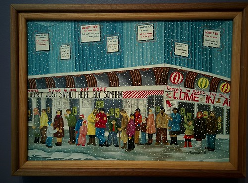 Waiting for a Bargain, 1983 #toronto #tdgallery #rajkakupesic #honesteds #painting #torontorevealed #torontoreferencelibrary #latergram