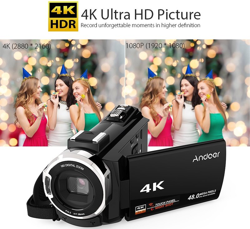 Andoer 4K ビデオカメラ (14)