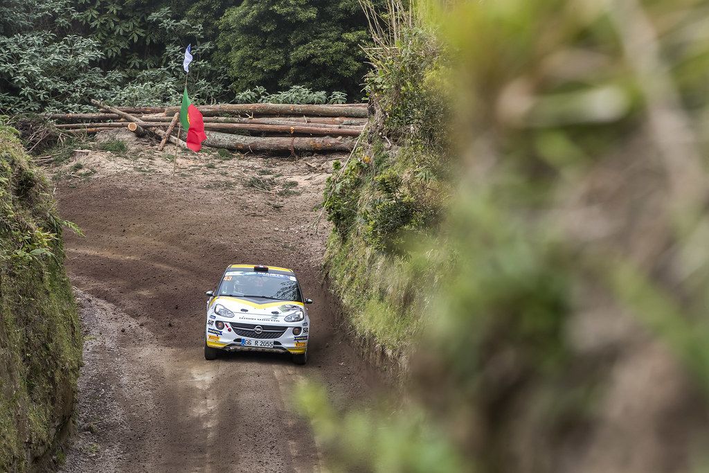 43 SESKS Martin (lva), RENARS Francis (lva),Adac Opel rallye junior team, OPEL ADAM R2, action during the 2018 European Rally Championship ERC Azores rally,  from March 22 to 24, at Ponta Delgada Portugal - Photo Gregory Lenormand / DPPI