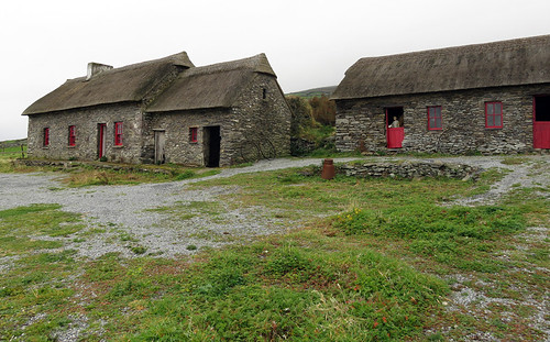 The Famine Houses on the Dingle Peninsula in Ireland