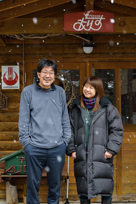 my friend in Norikura ,NAGANO