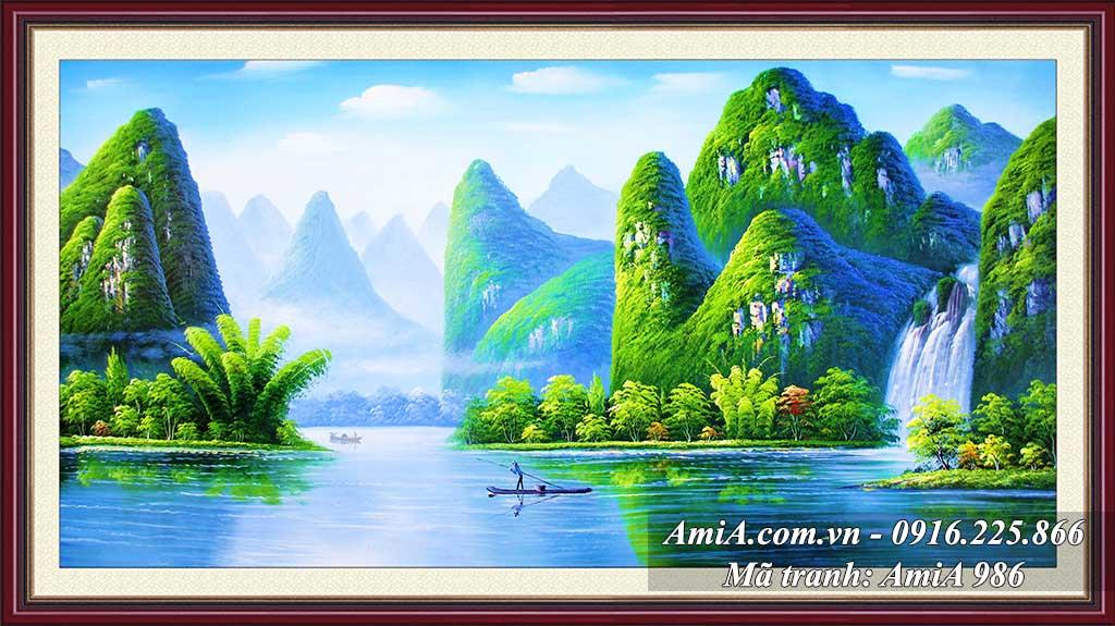 AmiA 986 - Tranh quê hương Vịnh Hạ Long đẹp