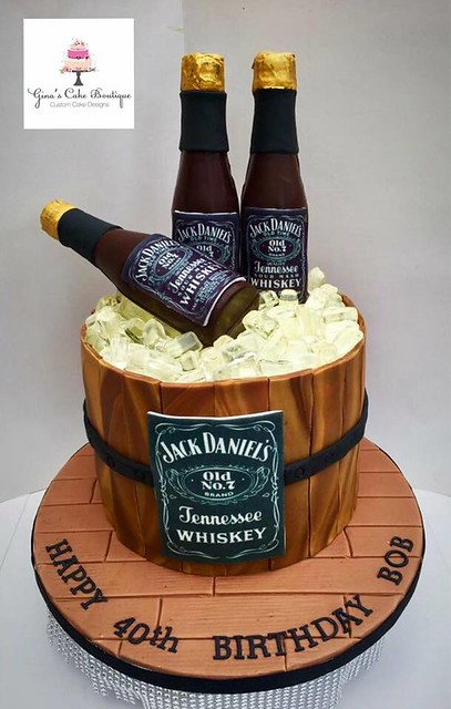 The Jack Daniel's Cake by Gina's Cake Boutique