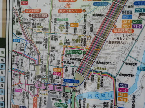 福島競馬場への福島交通路線バス