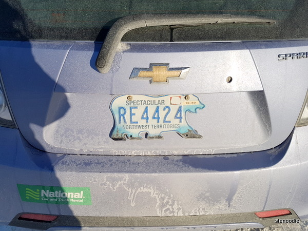 Northwest Territories polar bear licence plates
