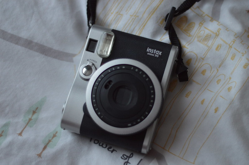 This is a picture of a fujifiilm instal mini camera