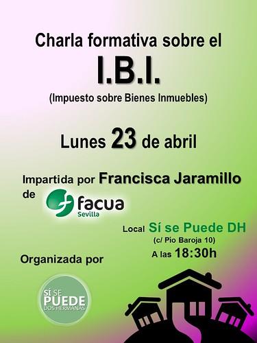 Cartel charla IBI de Sí se puede