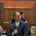 Rep. Craig Fishbein asks questions during debate on the House floor at the state capitol.