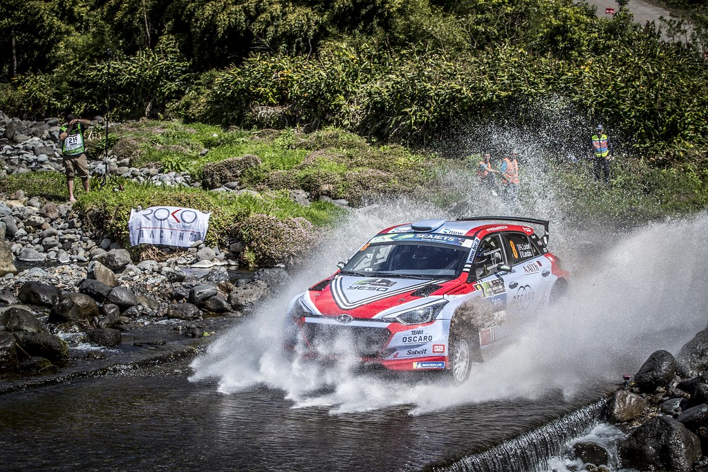 08 LOUBET Pierre louis (fra), LANDAIS Vincent (fra), BRC RACING TEAM, HYUNDAI I20 R5, actionduring the 2018 European Rally Championship ERC Azores rally,  from March 22 to 24, at Ponta Delgada Portugal - Photo Gregory Lenormand / DPPI