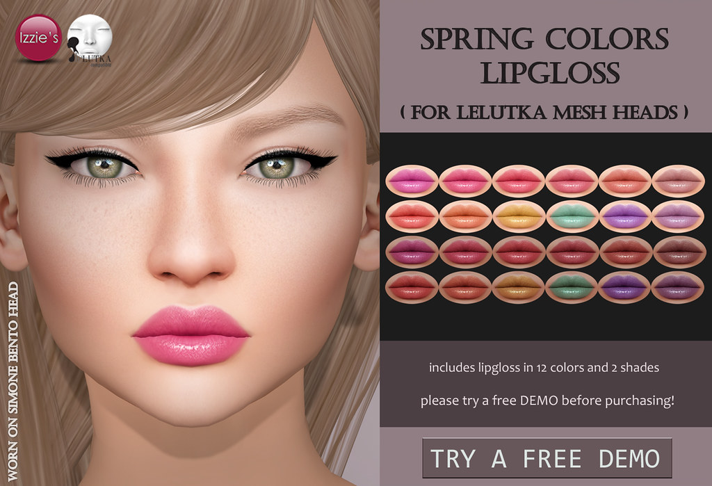 Spring Colors Lipgloss LeLutka (for FLF) - TeleportHub.com Live!