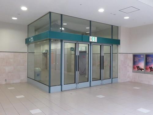 福島競馬場の5階C指定席入口