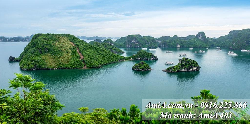 AmiA 403 - Tranh phong cảnh quê hương Vịnh Hạ Long khổ lớn