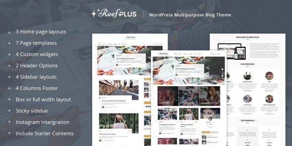 Reef Plus v1.4 - WordPress Theme
